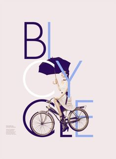 Bicycle #umbrella #bicycle #retro #vintage #bike #poster #typography