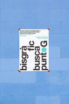 Poster PuntoG #puntog #bisgrafic #design #graphic #poster #helvetica #typo