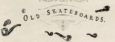 Old Skateboards Hand drawn branding