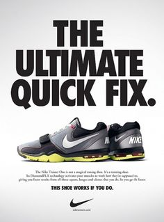 nike-trainer-one-the-ultimate-quick-fix.jpg 600×813 pixels #advertising #nike