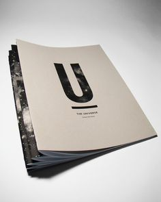 The Universe on Behance #universe #type #space