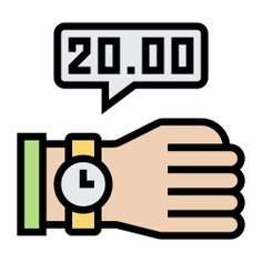 See more icon inspiration related to Late, clock, time, timer, wristwatch, time and date, hands and gestures, watches, fashion and hand on Flaticon.