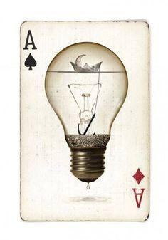 great concept graphic card #bulb #card #design #retro #graphic