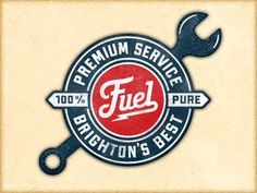 Dribbble - Fuel Ps Cut by Richie Stewart #coffee #logo #stamp