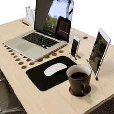 This desk's built-in features help you stay organized. #design #product #industrial #home #modern #style #furniture