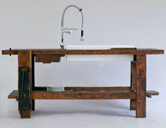 The Black Workshop #wood #furniture #table #old