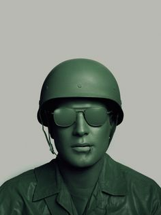 Uniform greeen soldier portrait photography by John Keatley design mindsparkle mag