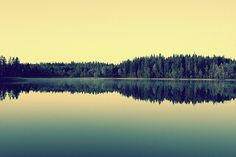 565461221569720.jpg (600×400) #yellow #retro #landscape #soft #reflection #green