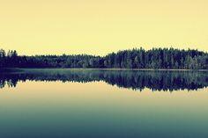 565461221569720.jpg (600×400) #retro #landscape #green #yellow #reflection #soft