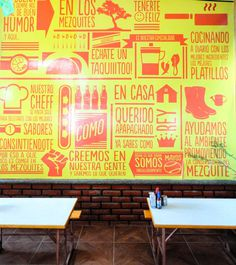 LOS MEZQUITES on Behance #wall #design