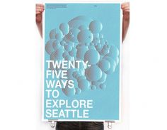EXPLORE SEATTLE : _ #print #design #graphic #grid #poster