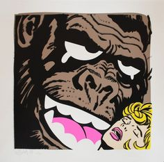 MYSTERIOUS AL — KONG! (brown) #urban #print #al #art #mysterious