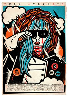 Twin Atlantic Charlie Simpson #illustration #bold #poster