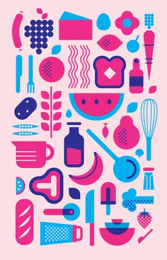 JO MANSFIELD #pink #blue #illustration