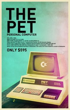 Commodore_PET_by_Hajdarevic.jpg (JPEG-bild, 400x629 pixlar) #retro #graphic #commodore #the pet #personal computer