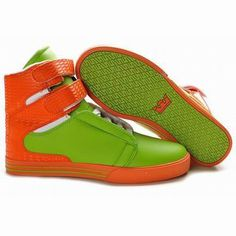 2012 New Supra Tk Society High Tops Green/Orange Men's #shoes