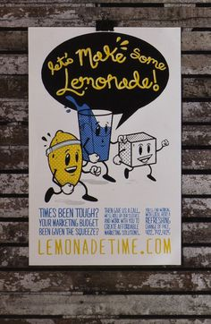 Lemonade Time on the Behance Network #screen #illustration #print #poster
