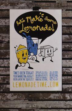 Lemonade Time on the Behance Network #screen #illustration #print #poster