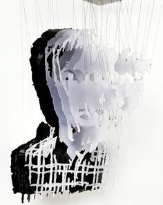 Michael Murphy #glass #portrait #layers #suspended