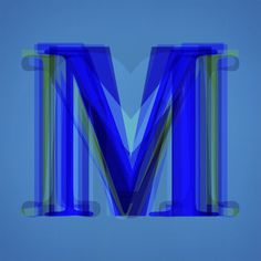 M for 36daysoftype #M #barcelona #design #davidrico #tipography #blue