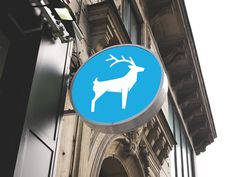 Blue Stag #signage #logo #identity #animal #stag #icon #branding #mark