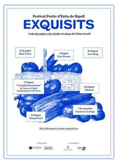 Exquisits 2012, Festival Poètic d'Estiu de Ripoll   Ohhh.ws #design #blue #festival #poetry #vegetables #padilla