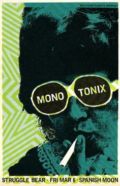 GigPosters.com - Monotonix - Struggle Bear #design #music poster #scott campbell