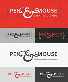 Pen&Mouse - Personal Branding #logo #identity #contrast #typography