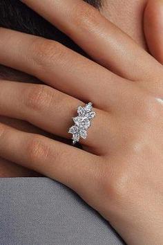Spectacular diamond engagement ring