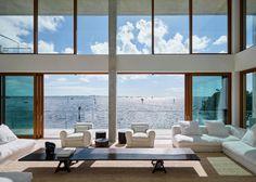 Amazing landscape #house #dream #sea #landscape #architecture #modern #blue #white #summer