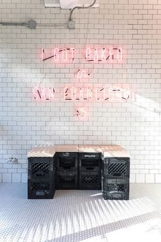 Neon from Mr Holmes Bakehouse in San Francisco #food #branding #interior design #neon