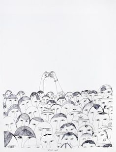 NINGEOKULUK TEEVEE (b. 1963, Cape Dorset) Sell Out Crowd, 2010