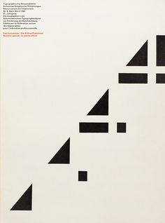 Cover from 1962 issue 4 | Cover Design André Gürtler Bruno Pfäffli Typeface Univers