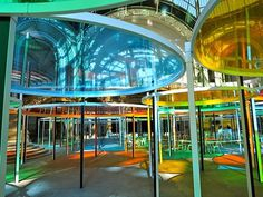 Graphic Statement: Daniel Burens' Technicolor Forest #monumenta #2012 #art #burens #daniel