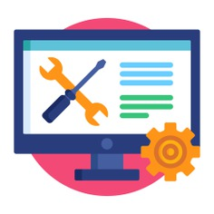 See more icon inspiration related to support, gear, help, wrench, ui, business and finance, seo and web, technical Support, edit tools, technical, working, settings, networking, screwdriver, interface, tools, web and computer on Flaticon.