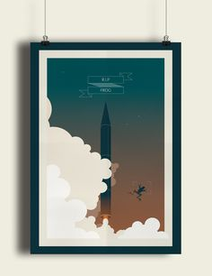 RIP FROG! on Behance #eissa #nasa #egypt #launch #space #mohamed #rocket #poster #virginia #usa #frog