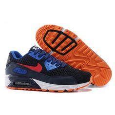 Nike Womens Air Max 90 2015 Dark Blue Orange New
