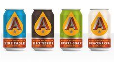Brand Identity | Austin Beerworks | Helms Workshop #packaging #vector #branding #typography