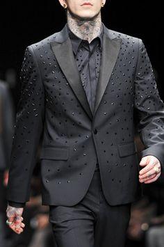 """monsieurcouture: """" John Richmonf F/W 2014 Menswear Milan Fashion Week """""""