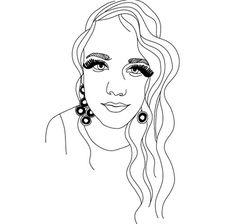 glam.png (525×500) #illustration #portrait #female
