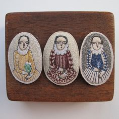 Image of Elizabethan-inspired embroidery brooches #embroidery