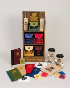 Design Work Life » Student Work: Woody Harrington: Novel Tea Cafe Identity #packaging #brand #identity #tea #coffee #pack #package
