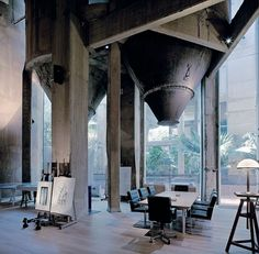 A former Cement Factory is now the workspace and residence of Ricardo Bofill | Yatzer™ #concrete #office #industrial #architecture #cement
