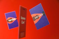 voice — speech and voice training branding corporate design blue red mindsparkle mag business card branding corporate design blue red inte