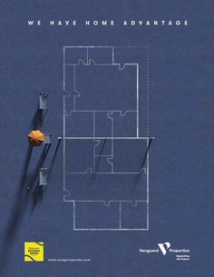 Vanguard Properties Print Advert By By Interactive Brands Agency: We Have Home Advantage