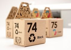 Student Work – Carli Shipley #recycle #ink #packaging #reuse #design #typeface #cartridge #type