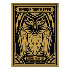 Before Their Eyes Collab Poster #owl #their #print #eyes #screen #poster #before