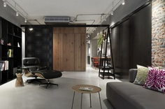 Honeycomb Apartment in Taipei, Two Books Space Design