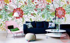 Flowers #interior #pattern #mural #design #decor #home #wall #flowers