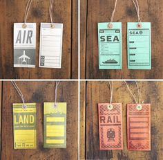 Two Arms Luggage Tags 2 #print